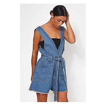 The Fashion Bible Limited Edition Denim Playsuit