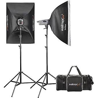 Studio flash set Walimex Pro VE 4.4 Excellence Power output (flash) 400 Ws