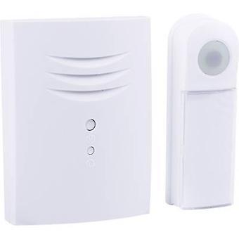 Byron B411E Wireless door bell Complete set backlit, incl. nameplate