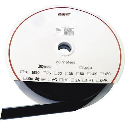 Fastech LOOP HM PS-A69 16MM Hook-and-loop tape stick-on Hook pad (L x W) 25000 mm x 16 mm noir 25 m
