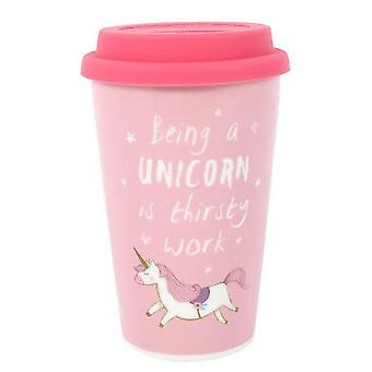 Something Different Being A Unicorn Is Thirsty Work Ceramic Boxed Travel Mug