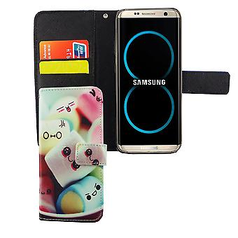 Mobile phone case pouch for mobile Samsung Galaxy S8 lettering marshmallows