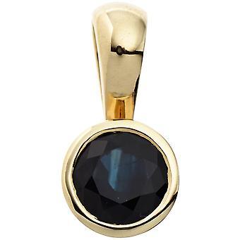 Sapphire Sapphire Pendant pendant 333 Gold Yellow Gold 1 blue Sapphire