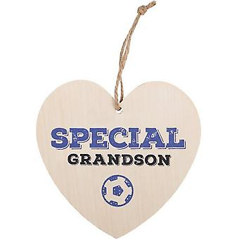 Something Different Special Grandson Hanging Heart Sign