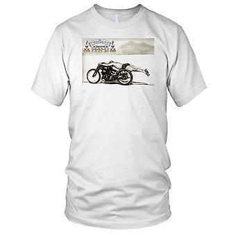 Vincent HRD Salt Plains Classic Motorcycle Biker Mens T Shirt