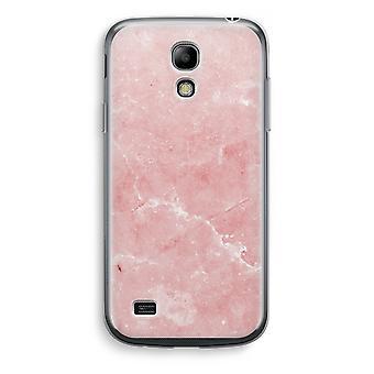 Samsung Galaxy S4 Mini przezroczyste etui - różowego marmuru