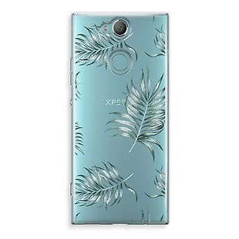 Sony Xperia XA2 Transparent Case (Soft) - Simple leaves