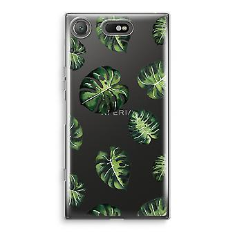 Sony Xperia XZ1 Compact Transparant Case (Soft) - Tropical leaves
