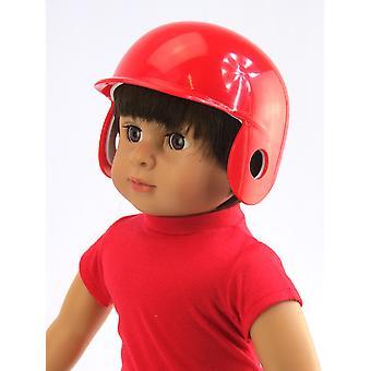 18「人形服赤野球ヘルメット