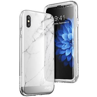 iPhone Xs Case, [Unicorn Beetle Stella Series] Premium Glitter Case with Built-in Screen Protect 2018  (Marble)