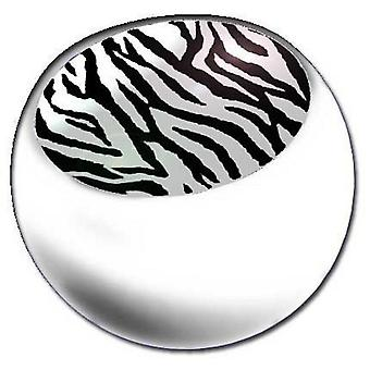 Piercing Replacement Ball White, Body Jewellery, Zebra | 1,6 x 5 and 6 mm