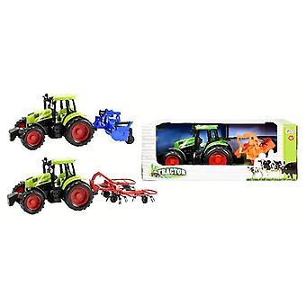 Frictie tractor met aanhanger in doos