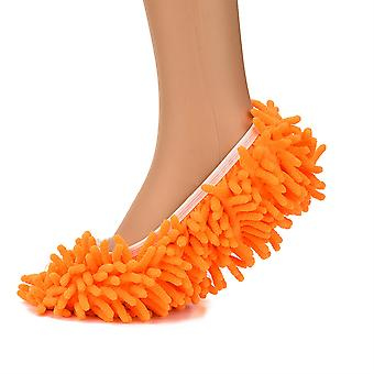 A few Orange Cleaning Mop MOP Shoes Shoes