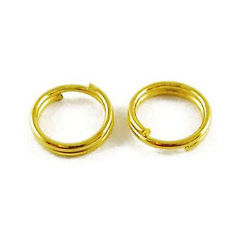 Packet 600+ Golden Plated Iron Round Split Rings 0.7 x 5mm HA02245