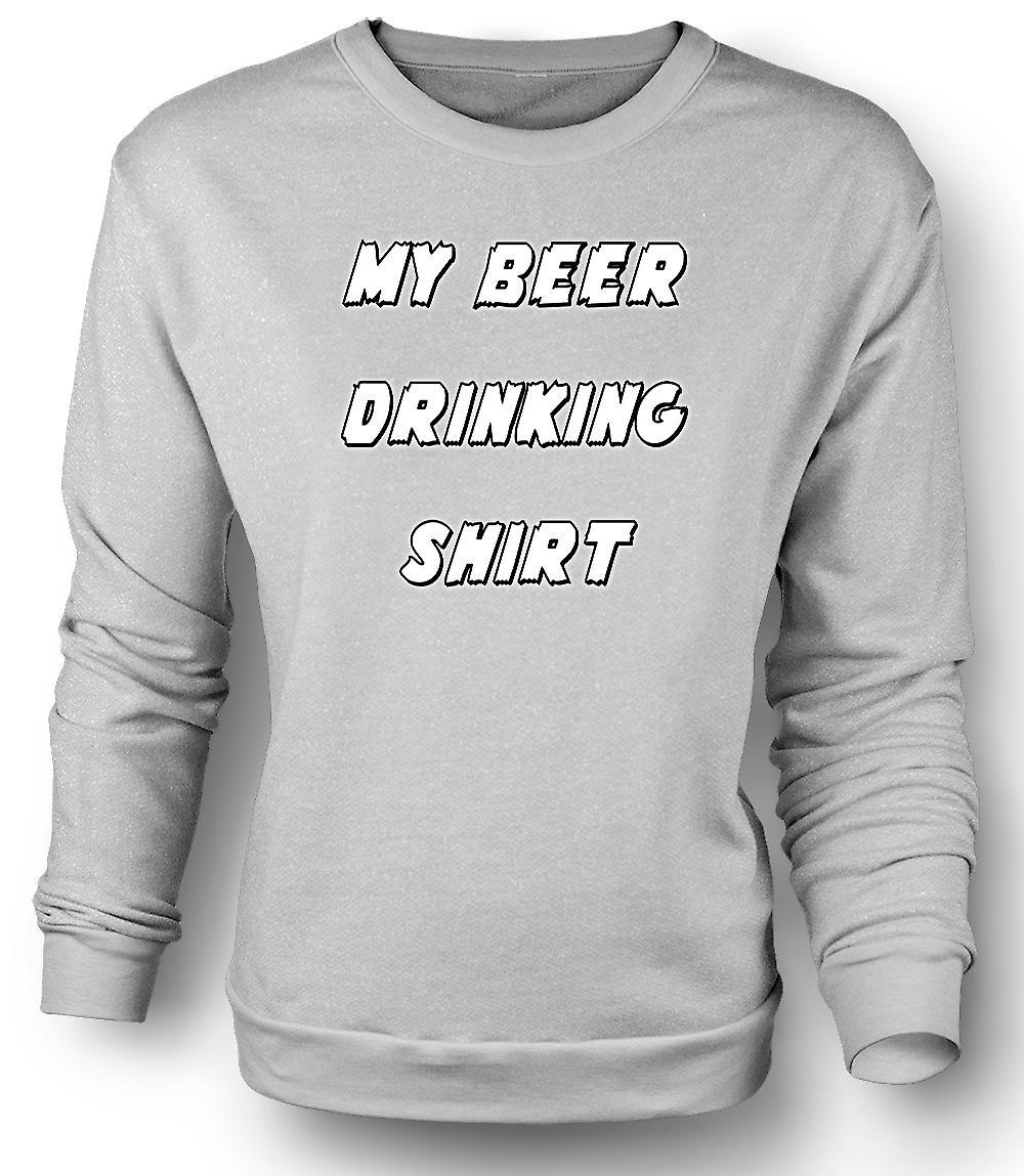 Sudadera para hombre mi camisa de beber cerveza - gracioso