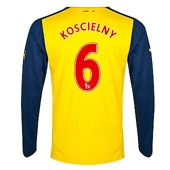 2014-15 Arsenal Long Sleeve Away Shirt (Koscielny 6)