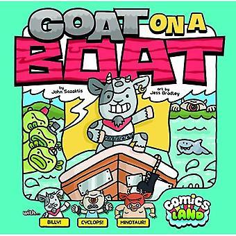 Chèvre sur un bateau