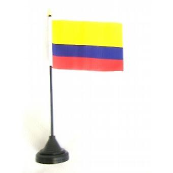 Columbia Table Flag with Stick and Base