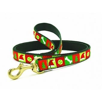 Up Country Christmas List Dog Lead