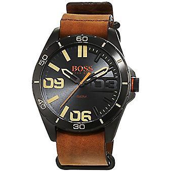 Hugo Boss Orange-men's quartz watch, classic analog display and leather strap-1513316