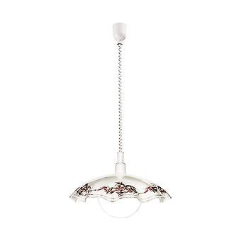 Eglo - Vetro Rise and Fall Pendant Ceiling Light White Finish EG3041