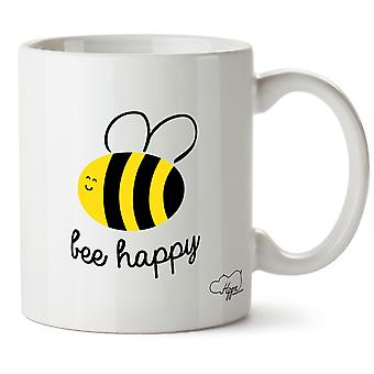 Hippowarehouse Abeille glad 283,5 Gram mugg Cup, Céramique, Blanc, en storlek (10oz)