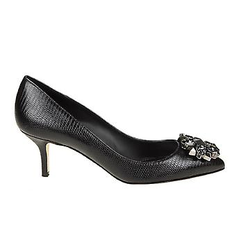 Dolce E Gabbana Black Leather Pumps