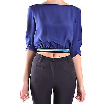 Prada Blue Silk Top