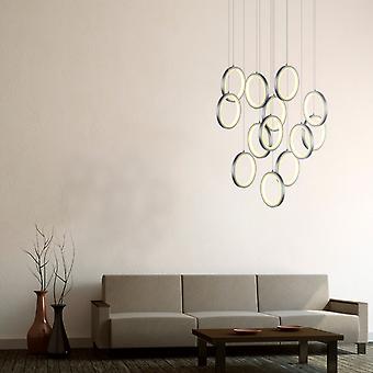 Hanger plafond Ring licht hangende levende kamer Home Canopy nikkel 13 Pendant Light