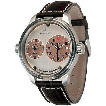 Zeno-Watch Herrenuhr OS Pilot Dual Time 8671-b36