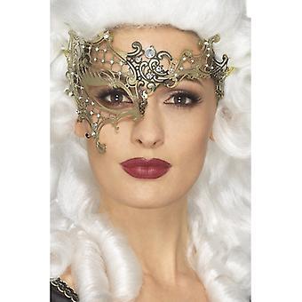 Deluxe filigrana metallo aiutato Eyemask