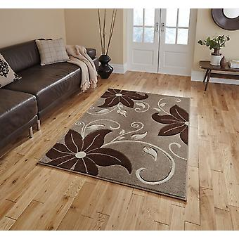 Verona Oc15 Beige Brown  Rectangle Rugs Modern Rugs