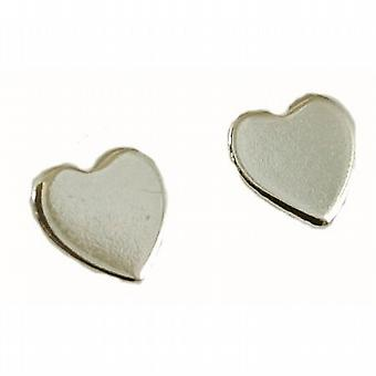 925 Silver Heart Stud Earrings
