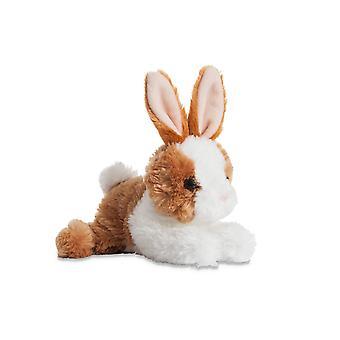 Aurora World Mini Flopsie Bunny Plush Toy (Brown/White)