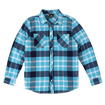 Lrg Overcome Long Sleeve Flannel Shirt Air Blue