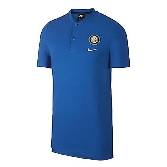 2019-2020 Inter Milan Authentic Polo Shirt (Blue)