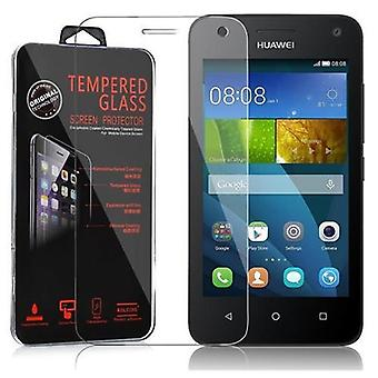 Cadorabo Tank Foil for Huawei Ascend Y3 / Y3C / Y331 / Y330 / Y360 - Protective Film in KRISTALL KLAR - Hardened (Tempered) Display Protective Glass in 9H Hardness with 3D Touch Compatibility