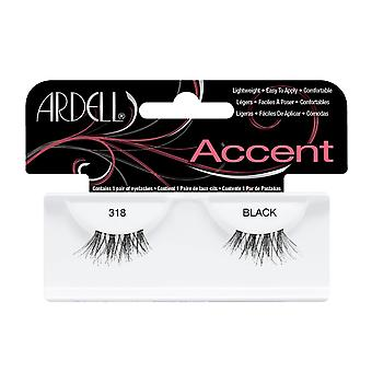 Ardell Accent 318 Black Easy To Apply Full False Eye Lashes