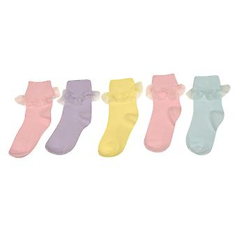 Crafted Girls 5 Pack Frilly Socks