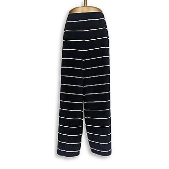 Susan Graver Femme-apos;s Petit Pantalon 2XP Imprimé Liquid Knit Wide Leg Black A276165