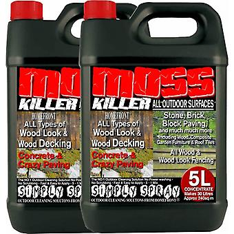 2 X 5 Litre Red Homefront Moss Killer Patio Cleaner