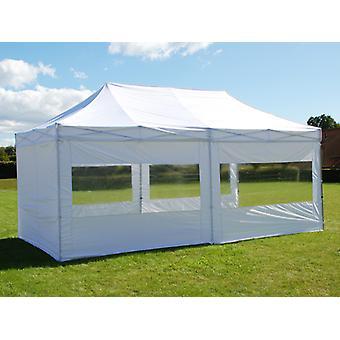 Vouwtent/Easy up tent FleXtents Easy up pavillon Basic v.2, 3x6m Wit, inkl. 6 Zijwanden