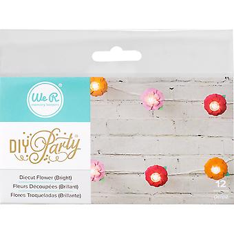 DIY Party Light Covers 12/Pkg-Flower Layers; Brights 660963