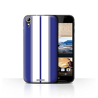 STUFF4 Case/Cover for HTC Desire 830/Shelby/Blue/Racing Car Stripes