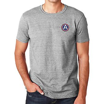 United States Army Central Embroidered Logo - Ringspun Cotton T Shirt