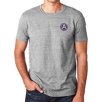Central del ejército de Estados Unidos bordado Logo - camisa de algodón Ringspun T
