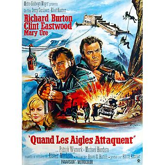 Where Eagles Dare From Left Mary Ure Richard Burton Clint Eastwood 1968 Movie Poster Masterprint