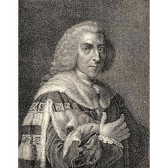 William Pitt eldste 1 jarl i Chatham 1708-1788 britisk statsmann og to ganger statsminister fra memoarene til eminente Etonians av Sir Edward Creasy publisert London 1876 PosterPrint