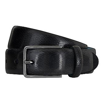 SAKLANI & FRIESE belts men's belts leather belt black 5128