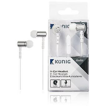 Koenig Ear Headphones With Plane And Speaker Cable 13 Mm White